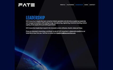 Screenshot of Team Page fateconsortium.com - FATE Consortium | Leadership - captured Aug. 9, 2018