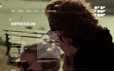 Screenshot of Terms Page cppstudios.de - CPP Studios – IMPRESSUM - captured Nov. 5, 2014