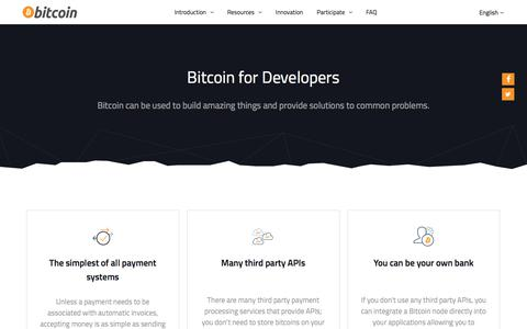 Bitcoin for Developers - Bitcoin