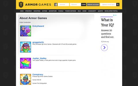 Screenshot of About Page armorgames.com - About Armor Games - Armor Games - captured July 30, 2018