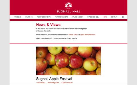 Screenshot of Press Page sugnall.co.uk - News | Sugnall Hall | Walled Kitchen Garden - captured Oct. 7, 2014