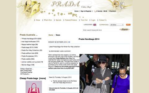 Screenshot of Press Page cruisefashion2015.com - Cheap Prada Saffiano bag 2014 - captured Nov. 4, 2014