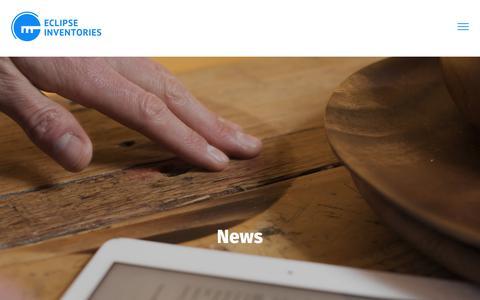 Screenshot of Press Page eclipseinventories.co.uk - News - Eclipse Inventories - captured Nov. 10, 2018