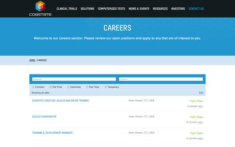 Screenshot of Jobs Page cogstate.com - Cogstate Careers and Employment - captured Dec. 10, 2015