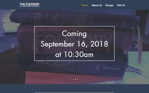 Screenshot of Home Page thefoundrychurch.com - TheFoundry - captured Sept. 20, 2018