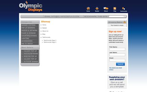 Screenshot of Site Map Page olympicdisplays.com - Sitemap » Exhibition Stands | Olympic Displays - captured Dec. 7, 2018