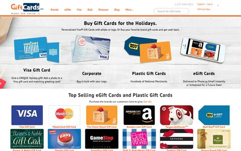 Screenshot of Home Page giftcards.com - GiftCards.com: Buy Gift Cards, eGift Cards, Visa & Discount - captured Dec. 7, 2015