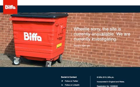 Screenshot of Blog biffa.co.uk - Biffa - 500 - captured May 11, 2019