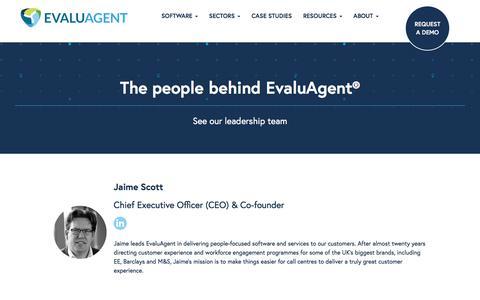 Screenshot of Team Page evaluagent.com - EvaluAgent Management Team | The People Behind EvaluAgent - captured July 13, 2018