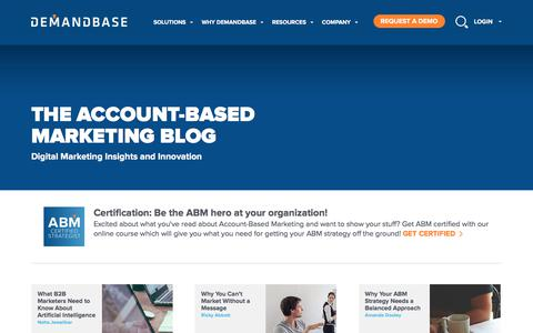 Screenshot of Blog demandbase.com - Account-Based Marketing – Demandbase | Blog :: Account-Based Marketing – Demandbase - captured June 24, 2017