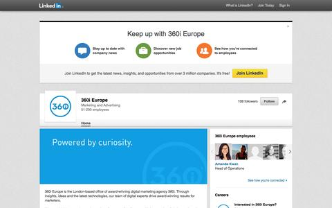 Screenshot of Jobs Page linkedin.com - 360i Europe | LinkedIn - captured April 25, 2016