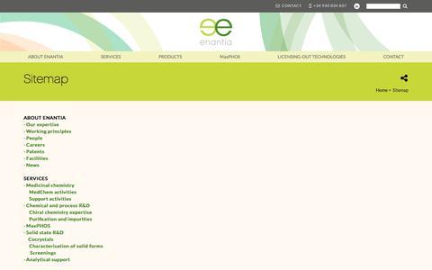 Screenshot of Site Map Page enantia.com - Sitemap | Enantia - captured Aug. 7, 2017