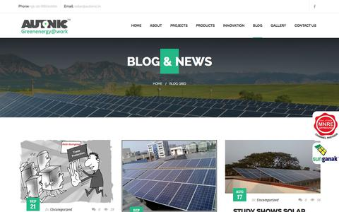 Screenshot of Blog autonic.in - Blog Grid – Solar Energy System Autonic – Complete Solar Solutions Co - captured Oct. 9, 2017