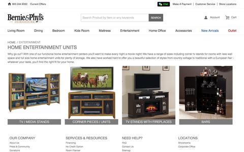 Entertainment Units | Home Entertainment Centers  - Bernie & Phyl's Furniture