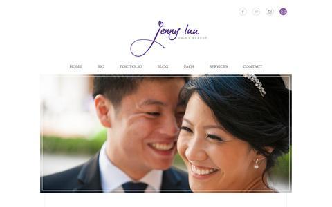Screenshot of Home Page jcluu.com - home » Jenny Luu Hair + Makeup - captured Sept. 7, 2015