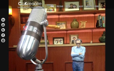 Screenshot of Home Page cokreeate.com - CoKreeate   3D Kreeations - captured Sept. 30, 2014