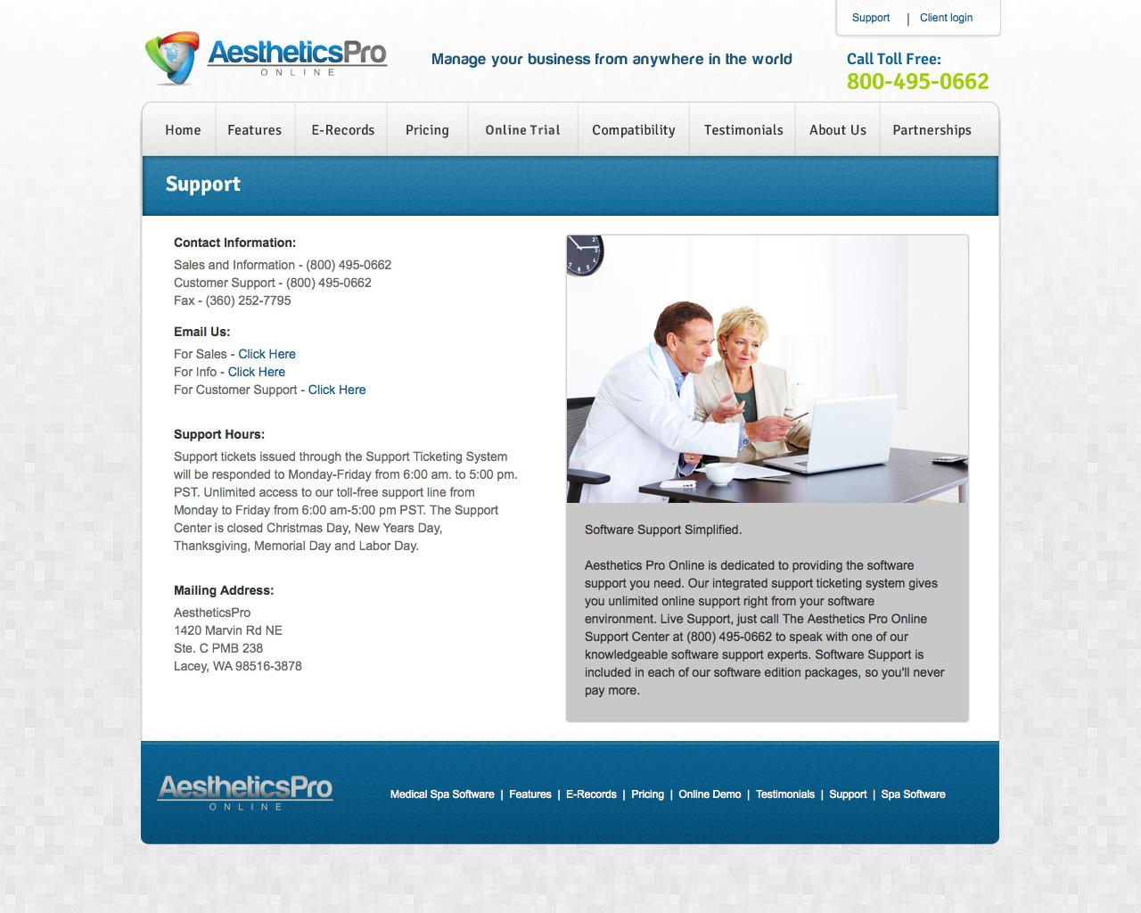 Web Design Example | A page on myaestheticspro com | Crayon