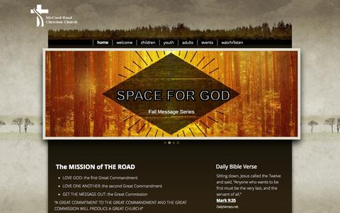 Screenshot of Press Page visittheroad.org - McCord Road Christian Church - captured Oct. 27, 2014