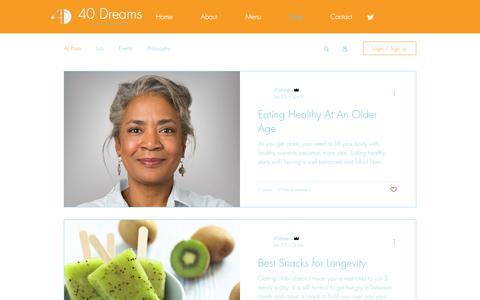 Screenshot of Blog 40dreams.com - 40 Dreams Catering | Blog - captured Oct. 20, 2018
