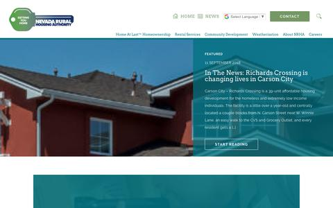 Screenshot of Press Page nvrural.org - News | Nevada Rural Housing Authority - captured Oct. 18, 2018