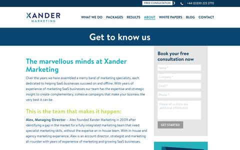 Meet The Team | Who We Are | Xander Marketing