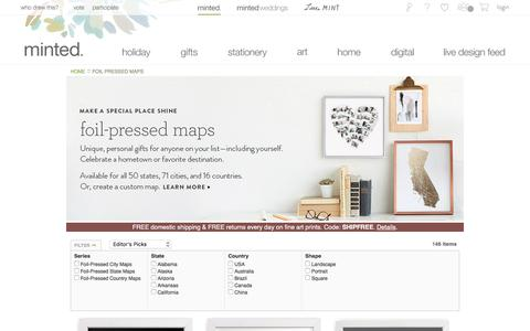 Screenshot of Maps & Directions Page minted.com - Holiday & Christmas Cards, Wedding Invitations, Photo Gifts, Home Decor & More  | Minted - captured Oct. 22, 2017