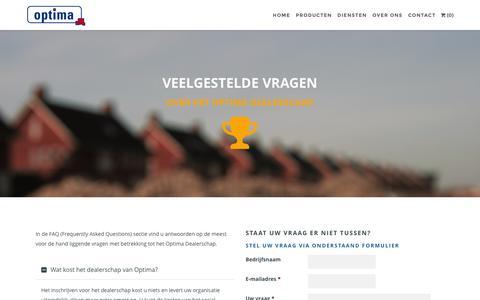 Screenshot of FAQ Page optimafm.nl - FAQ - Dealerschap | Optima Formulemarketing - captured Feb. 14, 2016