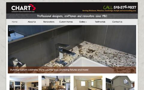Screenshot of Home Page chrt.ca - Home - CHART - Canadian Home and Renovation Team Inc. - CHART – Canadian Home and Renovation Team Inc. - captured Oct. 1, 2014