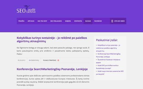 Screenshot of Blog seoaudit.lt - Blogas   SEOAudit.lt - captured Oct. 3, 2014