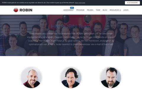 Screenshot of Team Page robinhq.com - Meet the team | ROBIN - captured Nov. 12, 2018