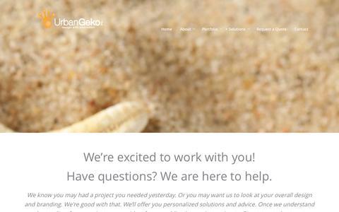 Screenshot of FAQ Page urbangekodesign.com - FAQs | Q&A on Website, Graphic Design Orange County - captured Nov. 5, 2014
