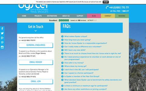 Screenshot of FAQ Page oysterworldwide.com - FAQs - Oyster Worldwide - captured June 14, 2017
