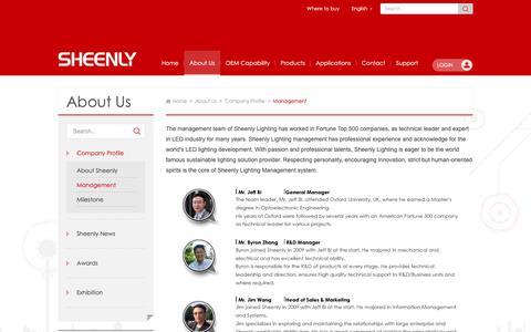Screenshot of Team Page sheenly.com - ManagementSheenly Lighting-Quality of Light - captured Nov. 8, 2018