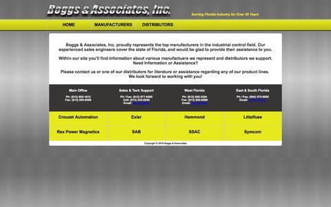Screenshot of Home Page boggsassociates.com - Boggs & Associates - Home Page - captured Feb. 7, 2016