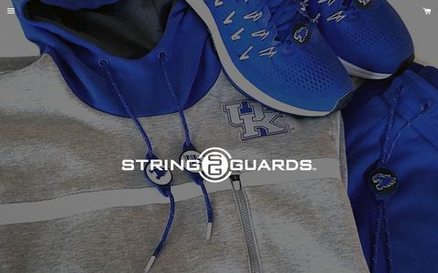 Screenshot of Home Page stringguards.com - String Guards – StringGuards - captured Oct. 1, 2018