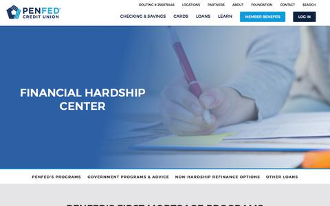 Financial Hardship Center for Mortgages and Other Loans   PenFed