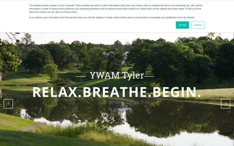 Screenshot of Home Page ywamtyler.org - Home | YWAM Tyler - captured March 27, 2019