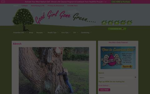 Screenshot of About Page goodgirlgonegreen.com - About - Good Girl Gone Green - captured Sept. 23, 2014