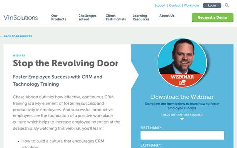 Screenshot of Case Studies Page vinsolutions.com - VinSolutions - Foster Employee Success with CRM and Technology Training - captured Dec. 3, 2019