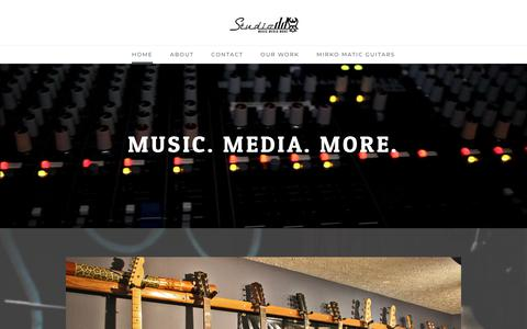 Screenshot of Home Page studioddky.com - Studio DD: Music, Media, and More. - Home - captured Jan. 18, 2018