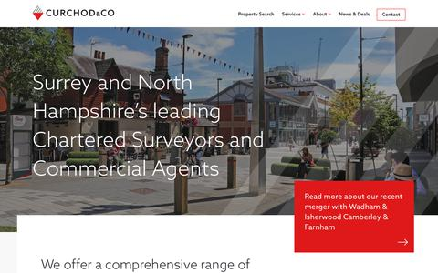Screenshot of Home Page curchodandco.com - Chartered Surveyors and Commercial Property Agents | Curchod & Co - captured Sept. 29, 2018