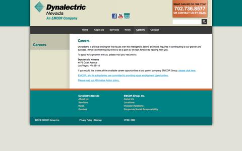 Screenshot of Jobs Page dyna-lv.com - Careers :: Dynalectric Nevada - captured Feb. 8, 2018