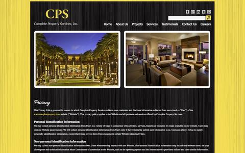 Screenshot of Privacy Page completeproperty.com - Privacy | CPS - captured Oct. 3, 2014