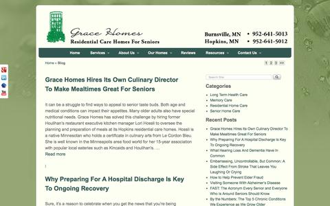 Screenshot of Blog gracehomes.info - Blog- Memory Care for Seniors with Dementia & Alzheimer's by Bethany Buchanan, RN - captured July 23, 2018