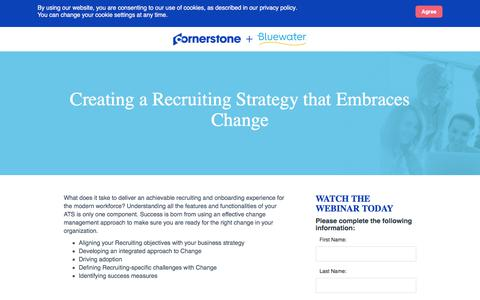 Screenshot of Landing Page cornerstoneondemand.com - CSOD | Creating a Recruiting Strategy that Embraces Change - captured Oct. 22, 2019
