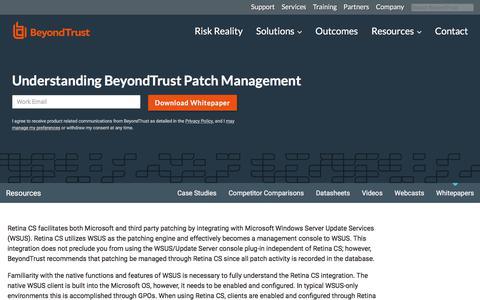 Screenshot of Team Page beyondtrust.com - Understanding BeyondTrust Patch Management | BeyondTrust - captured Jan. 3, 2020