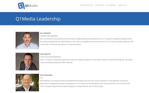 Screenshot of Team Page q1media.com - Q1Media Leadership - captured Nov. 18, 2018