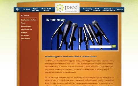 Screenshot of Press Page paceschool.org - In the News - captured Sept. 26, 2014