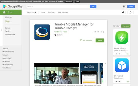 Trimble Mobile Manager for Trimble Catalyst - Apps on Google Play