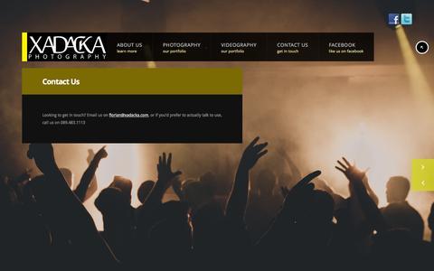 Screenshot of Contact Page xadacka.com - Contact Us - Xadacka Photography - captured Feb. 13, 2016